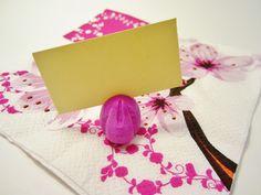 Place card easter craft. Decoration de table diy pour Pâques. Tafeldecoratie voor Pasen.