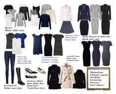 Minimalism: Ultimate capsule wardrobe part 1 Capsule Wardrobe Work, Capsule Outfits, Fashion Capsule, New Wardrobe, Wardrobe Basics, Work Outfits, Work Wardrobe Essentials, Mode Simple, One Step