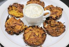 Slimming World Syn Free Baked Onion Bhajis - Tastefully Vikkie