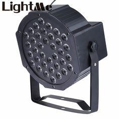 Nuevo LED Luces de la Etapa de 36 W RGB LED PAR DMX Iluminación de la Etapa del Efecto DMX512 Master-Slave Led Plana para el Partido Del Disco de DJ KTV Para Enchufe de LA UE