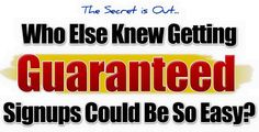 Guaranteed Sign Ups On Autopilot - Guaranteed Profit System (GPS) - The Number 1 Team In National Wealth Center