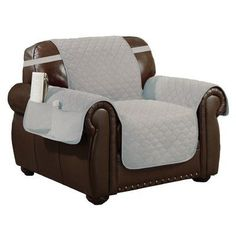 Red Barrel Studio Box Cushion Armchair Slipcover Upholstery: Silver-Black