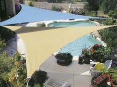 sun sail shade over pool - Sun Sail Shade