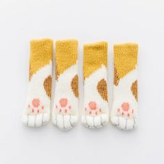 super cute stripey cat paw design our cat paw chair socks rh pinterest com mx