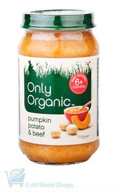Yummy Only Organic Pumpkin Potato and Beef  http://www.shopnewzealand.co.nz/en/c/ONLY_ORGANIC
