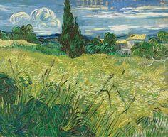 1889 Van Gogh Wheatfield with Cypress(National Gallery Praga)ultra HD