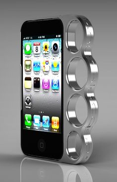 Brass Knuckle Phone Case - Noticed while I was looking for The Hunger Games. Originally posted by bosshogg