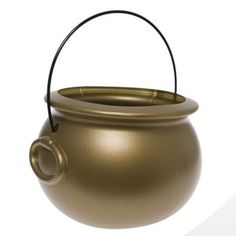 Pot O Gold Cauldron Find Your Pot Of Gold! www.teelieturner.com  The gold cauldron is the perfect St. Patrick's Day party decoration. Whether as a table centerpiece overflowing with treats, or a party favor giveaway, a pot of gold is a great addition to your event. #StPatricksDay