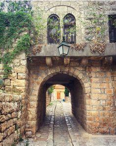 Walking through the town of Deir el Amar, Lebanon