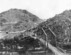 Beautiful overlooking shots from the Narrows from 1918-1921 and the Road connecting Victorville to Apple Valley and Lucerne Valley and the 2nd generation of the Victorville Bridge made with new riveting technology existing from 1902-1928