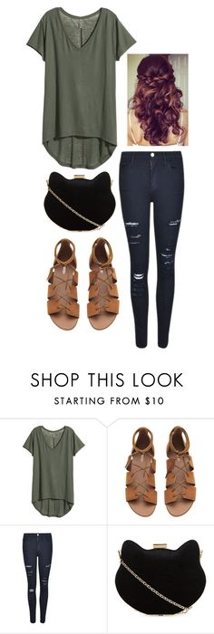 """""""Untitled #732"""" by hakay ❤ liked on Polyvore featuring H&M, Frame Denim, New Look and Retrò"""