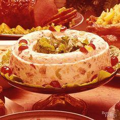 Fruitcake + gelatin mold = the ULTIMATE throwback Christmas recipe.