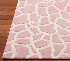 Pink Giraffe Rug. Cute for baby room. :)
