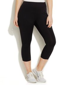 Calvin Klein Performance Plus Size Capri Leggings $40