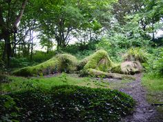 'The Mudmaid'  at the Lost Gardens of Heligan in Cornwall, UK.