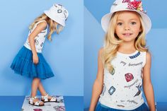 MONNALISA Spring Summer 2016 #Monnalisa #fashion #kids #childrenswear #newcollection #girls #style #summer #tattoo #diamonds