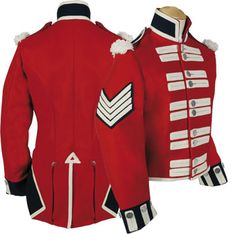 Dig the huge chevrons. Military Inspired Fashion, Military Fashion, Napoleon, Military Style Jackets, Military Coats, Military Uniforms, Army Costume, Marching Band Uniforms, British Army Uniform