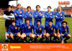Spain team group in Team Photos, Football Team, Real Madrid, Chelsea, Poster, Baseball Cards, Sports, 1980s, Spain
