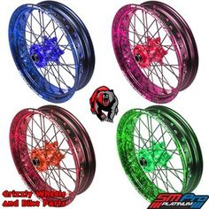 Supermoto Wheels and Rims in millions of color combinations! #Grizzly-Wheels, #SMPROPLATINUM, #Bikeporn