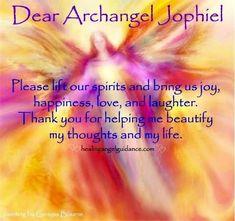 Archangel Jophiel, Patron Saint of Artist & of Beauty, Creativity, & Clarity. Gain clarity on what you really love. Reiki Meditation, Guided Meditation, Archangel Prayers, Archangel Uriel Prayer, Archangel Zadkiel, Words Of Strength, Spiritual Prayers, Spiritual Values, Spiritual Growth