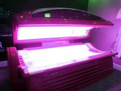 Pink Tanning Bed! I need this too :)