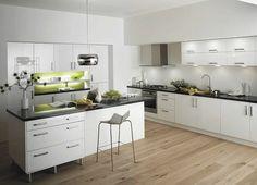 aménagement intérieur de cuisine blanche de design moderne