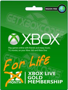 Winner will receive Free Xbox Live Gold memberships for life. A 12 month  membership is provided on win date and on the anniversary every year after.