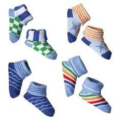 Luvable Friends™ Newborn Boys' 4 Pack Little Socks - Blue 0-6 M