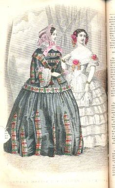 Godey's Lady's Book Fashion Plate, October 1855