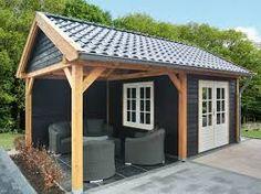 Afbeeldingsresultaat voor tuinhuis met veranda