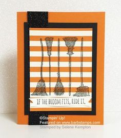 If the Broom Fits - NEW from the Holiday Catalog! - Barbstamps!! Barb Mullikin Stampin' Up! Demonstrator
