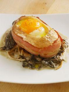 Oeuf cocotte en pomme de terre & champignons