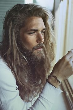 Men Long Hair Beard With