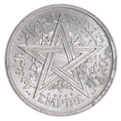 Monnaie du Maroc (Marruecos, Morocco), Mohammed V, 2 Francs, 88 €, envoi gratuit