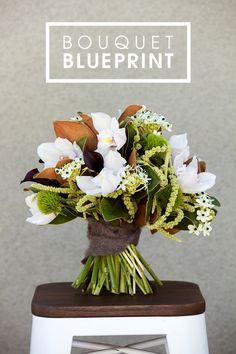 A #DIY bouquet blueprint for your winter wedding!