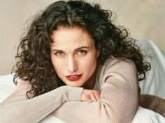 I really wish I had the willpower to grow my hair out--it's very much like this when it's long (Andie MacDowell)