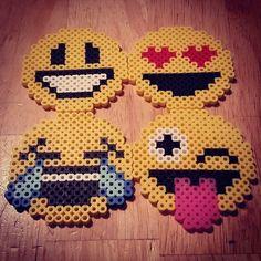 Emojis perler beads by Beccie: