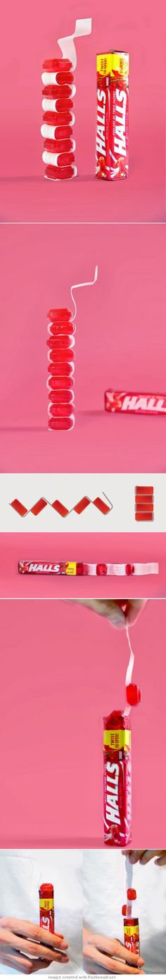 Halls Packaging (Concept). Love this. Less fiddle. Less paper. More simplicity.
