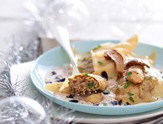 Raviolis aux cèpes, sauce foie gras - 100 idées de plats pour votre repas de Noël - Cuisine Actuelle