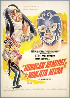 Lucha Libre movie poster from the 70s. Want.