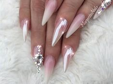 Pink Peppermint & Diamond by MargaritasNailz