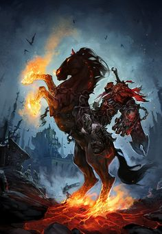 Darksiders promo art by the creative director, Joe Madureira.