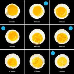 9 minutes is my magic cooking time, passed down by my dear mom who makes the perfect hard boiled eggs every time! .... cooking times for eggs / bon appetit