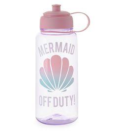Purple Mermaid Off Duty Print Water Bottle | New Look