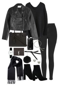 """""""Untitled #4931"""" by theeuropeancloset ❤ liked on Polyvore featuring Topshop, T By Alexander Wang, Yves Saint Laurent, Native Union, Monica Vinader, Snö Of Sweden and Rosendahl"""