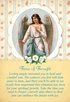 Card for today is from Doreen Virtue and Radleigh Valentine's brand new Guardian Angel Tarot Card Deck, the world's gentlest and sweetest tarot cards. They created this deck for highly sensitive people who desire the accurate and detailed answers of tarot cards, along with gentle words and images. ~w~4 (jtm)