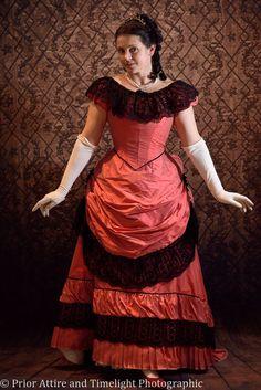 Victorian bustle evening dress size 8-10