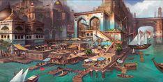 ArtStation - Mirage Arcane Warfare docks design, Tyler edlin