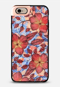 Coral Summer - a hand drawn floral pattern iPhone 6 case by Micklyn Le Feuvre | Casetify - Use code 6SP8GR to get $10 off your first order. #casetify #freeshipping