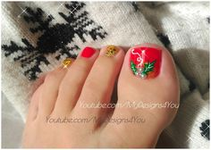 Christmas Pedicure - Nail Art Gallery